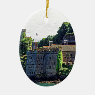 Castillo #2, Devon, Inglaterra de Dartmouth Adorno Ovalado De Cerámica