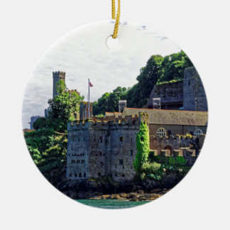 Castillo #2, Devon, Inglaterra de Dartmouth Adorno Redondo De Cerámica