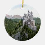 Castillo 5 de Neuschwanstein Adorno Navideño Redondo De Cerámica