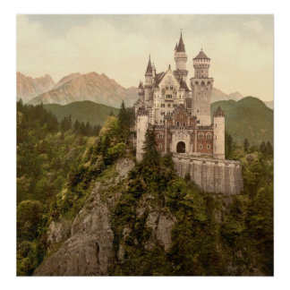 Castillo alemán Neuschwanstein Póster