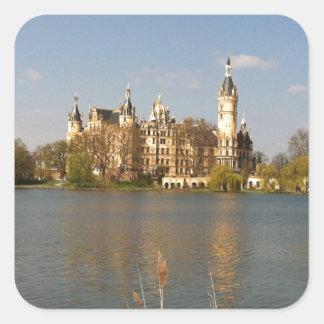 Castillo alemán Schwerin - Schloss - Pegatina Cuadrada