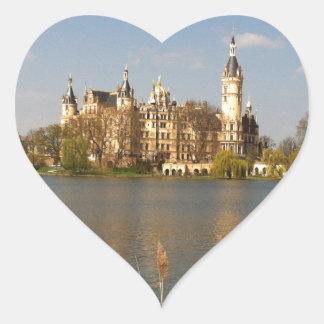 Castillo alemán Schwerin - Schloss - Pegatina En Forma De Corazón