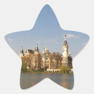 Castillo alemán Schwerin - Schloss - Pegatina En Forma De Estrella
