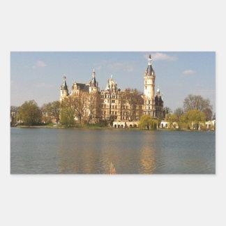Castillo alemán Schwerin - Schloss - Pegatina Rectangular