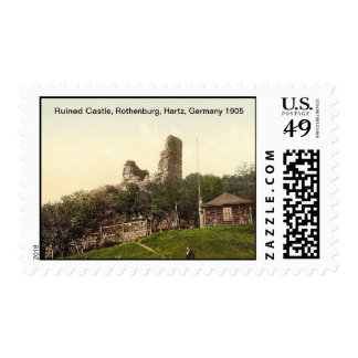 Castillo arruinado, Rothenburg, Hartz, Alemania Estampilla