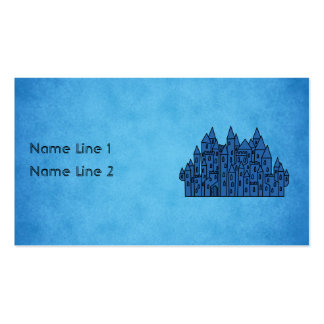 Castillo azul tarjetas de visita