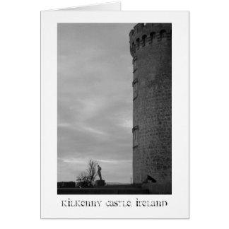 Castillo B W título de Kilkenny Tarjetón