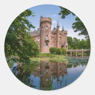 Castillo Bedburg-Hau Alemania de Moyland Pegatina Redonda
