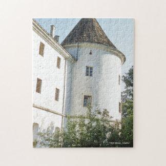 Castillo blanco precioso 1961 de la torre de puzzle