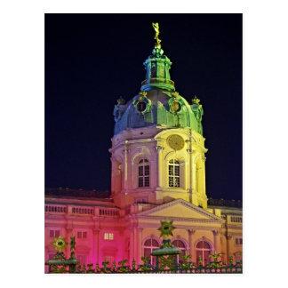 castillo Charlottenburg Berlín Alemania iluminada Postal