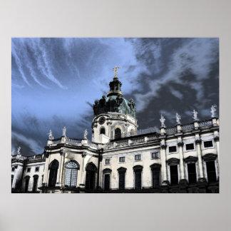 castillo Charlottenburg en Berlín Alemania Poster