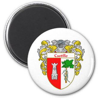 Castillo Coat of Arms (Mantled) Magnet