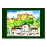 Castillo comercial de Salzburg de las tarjetas de