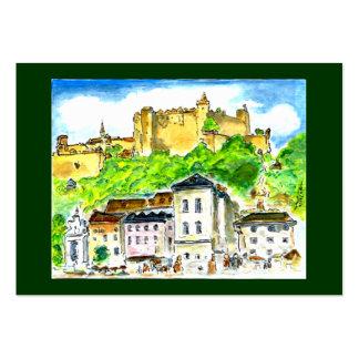 Castillo comercial de Salzburg de las tarjetas de Tarjetas De Visita Grandes