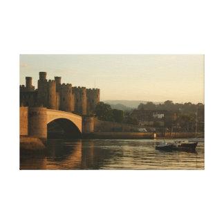 castillo conwy País de Gales del norte Lienzo Envuelto Para Galerias