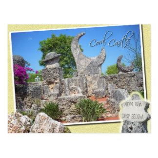 Castillo coralino, granja, la Florida Tarjetas Postales
