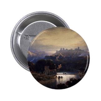 Castillo de Alcala De Guadaira de David Roberts Pin Redondo De 2 Pulgadas