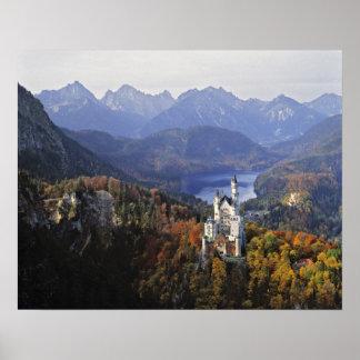 Castillo de Alemania, Baviera, Neuschwanstein. Rey Poster