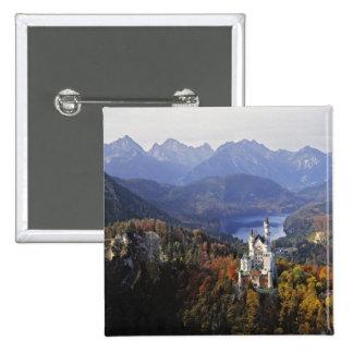 Castillo de Alemania, Baviera, Neuschwanstein. Rey Pin Cuadrado