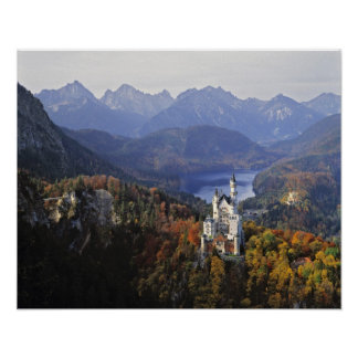 Castillo de Alemania, Baviera, Neuschwanstein. Rey Póster