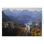 Castillo de Alemania, Baviera, Neuschwanstein. Rey Tarjeta