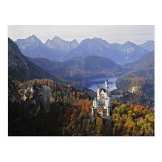 Castillo de Alemania Baviera Neuschwanstein Rey Tarjeta Postal