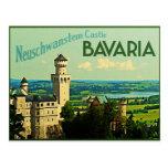 Castillo de Alemania Neuschwanstein de Baviera Tarjeta Postal