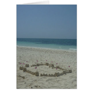 castillo de arena Bahamas Tarjeta De Felicitación