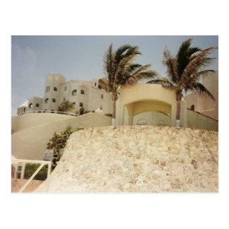 Castillo de arena Cancun Postal