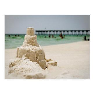 Castillo de arena de la playa de Pensacola Tarjetas Postales