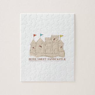 Castillo de arena dulce casero rompecabeza con fotos