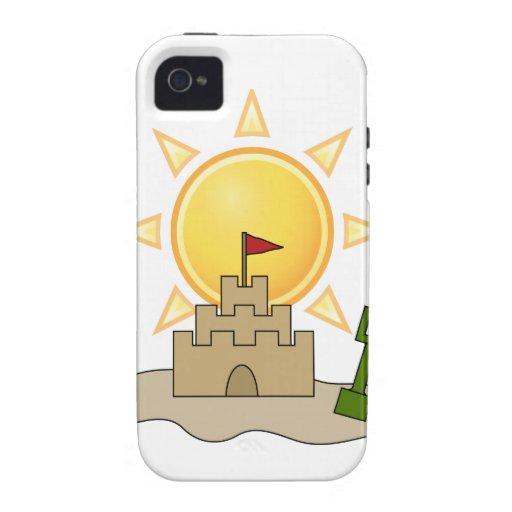 Castillo de arena soleado iPhone 4/4S carcasas