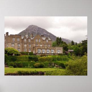 Castillo de Ballynahinch, Irlanda Póster