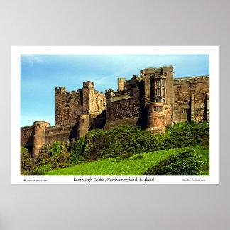 Castillo de Bamburgh, Northumberland, Inglaterra Póster