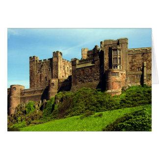 Castillo de Bamburgh, Northumberland, Inglaterra Tarjeta De Felicitación
