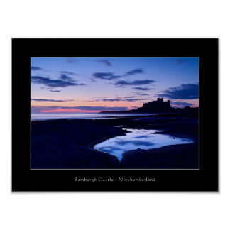 Castillo de Bamburgh - Northumberland - poster