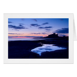 Castillo de Bamburgh, Northumberland Tarjeta De Felicitación