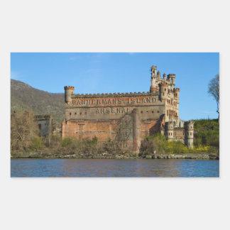 Castillo de Bannerman Pegatina Rectangular