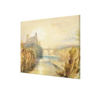 Castillo de Barnard (w/c, aguazo, pluma y tinta en Impresiones En Lona Estiradas