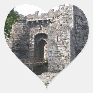 Castillo de Beaumaris Colcomanias De Corazon Personalizadas