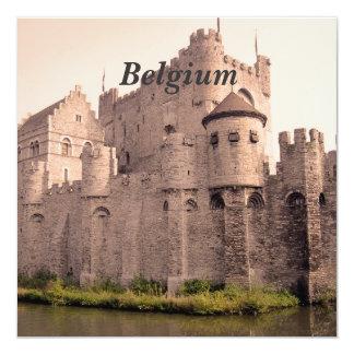 """Castillo de Bélgica Invitación 5.25"""" X 5.25"""""""