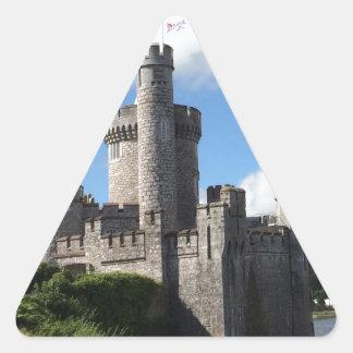 Castillo de Blackrock Pegatina Triangular