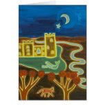 Castillo de Bodiam por el claro de luna 2010 Tarjeta De Felicitación