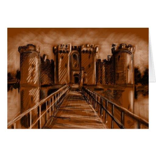 Castillo de Bodiam - Sussex del este, Reino Unido Tarjeta De Felicitación