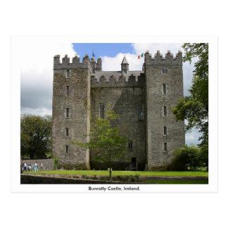 Castillo de Bunratty, condado Clare, Irlanda Tarjetas Postales
