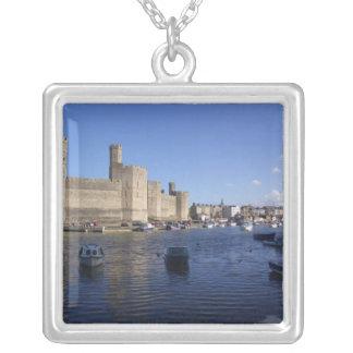 Castillo de Caernarfon, Gwynedd, País de Gales 2 Colgante Cuadrado