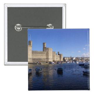 Castillo de Caernarfon, Gwynedd, País de Gales 2 Pin Cuadrado
