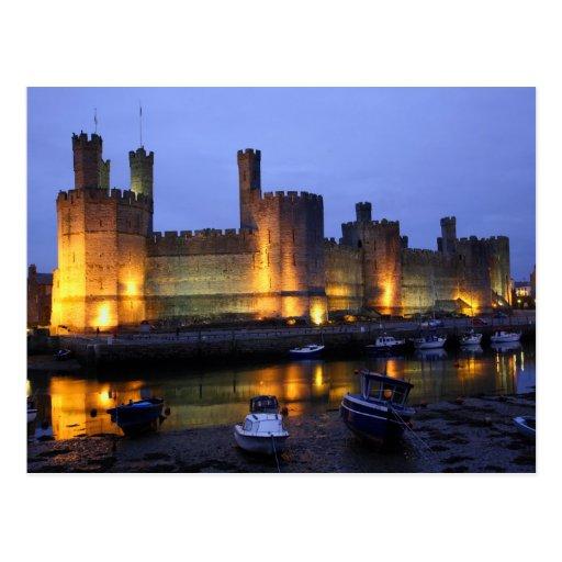 Castillo de Caernarfon Tarjetas Postales