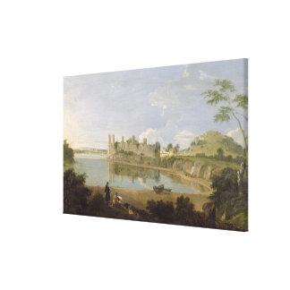 Castillo de Caernarvon, c.1745-50 (aceite en lona) Lienzo Envuelto Para Galerías