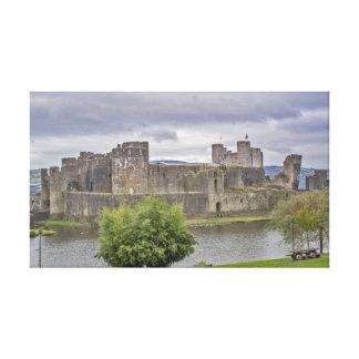 Castillo de Caerphilly Lona Estirada Galerías
